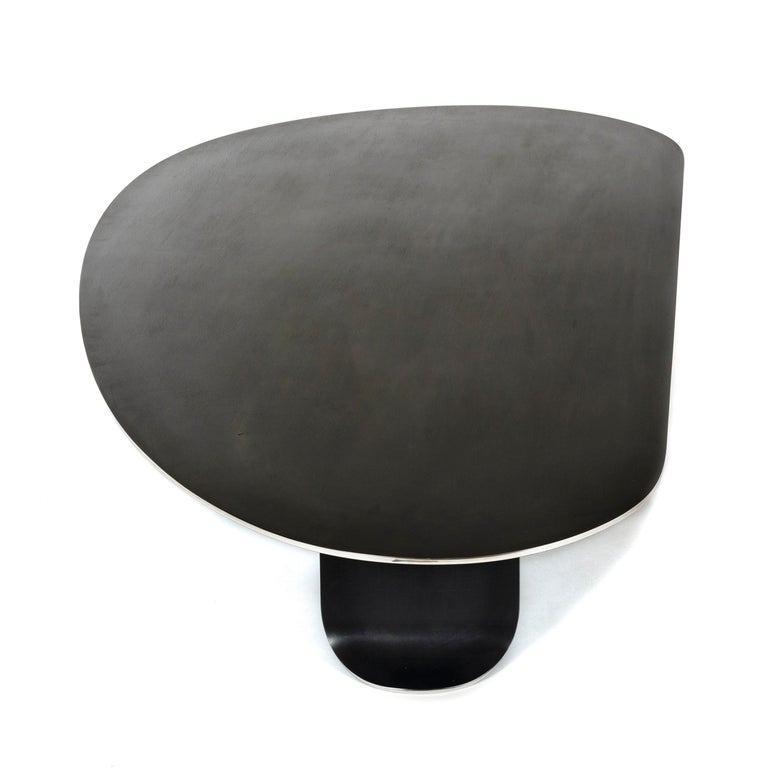 Wyeth Chrysalis Table No. 1 in Blackened Stainless Steel with Polished Edges For Sale 1