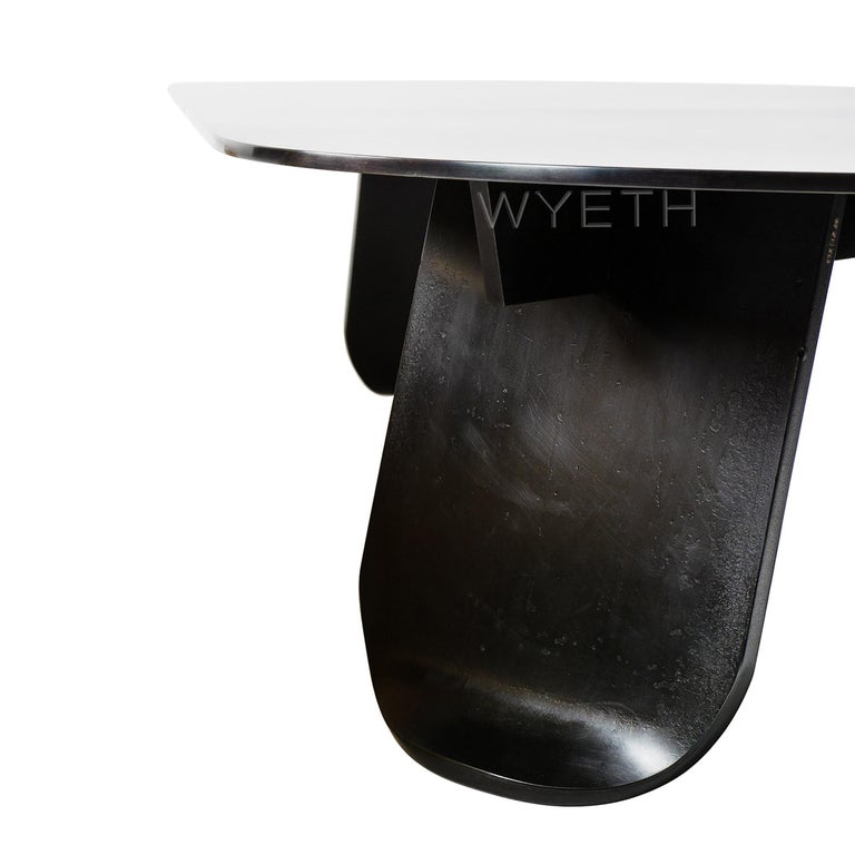 WYETH Chrysalis Table No. 1 in Blackened Steel For Sale 1