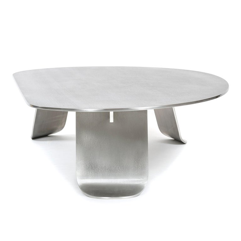 Wyeth Chrysalis Table No. 1 in Natural Grain Stainless Steel For Sale 5