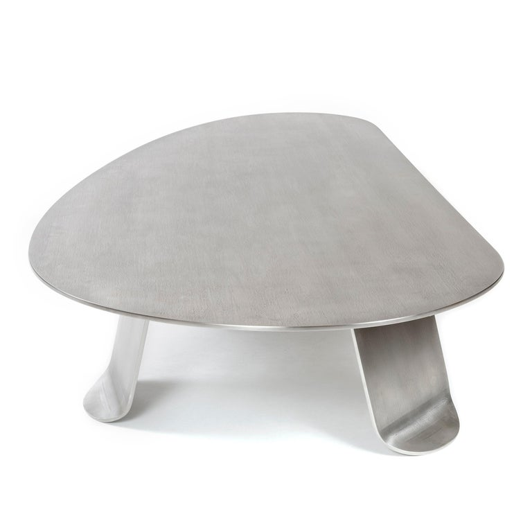 Wyeth Chrysalis Table No. 1 in Natural Grain Stainless Steel For Sale 6