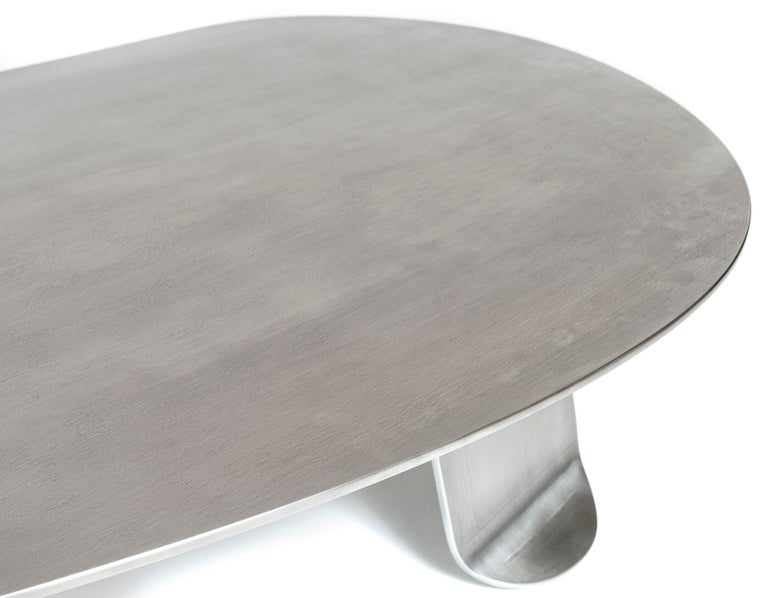 Wyeth Chrysalis Table No. 1 in Natural Grain Stainless Steel For Sale 2