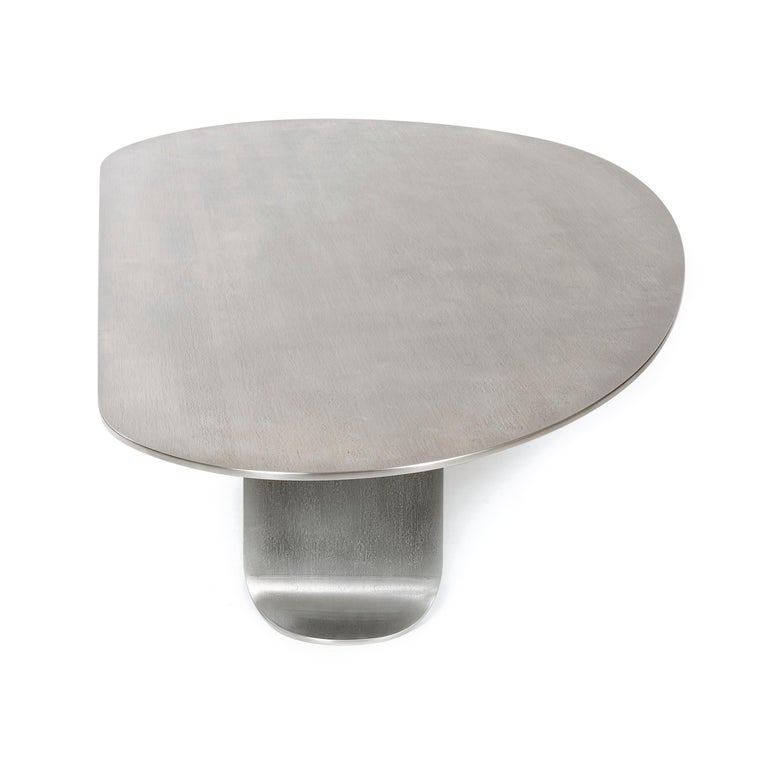 Wyeth Chrysalis Table No. 1 in Natural Grain Stainless Steel For Sale 3