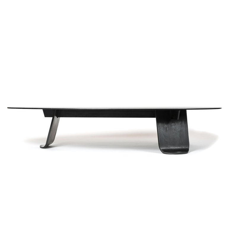 American Wyeth Chrysalis Table No. 1 in Patinated Steel with Hot Zinc Finish For Sale