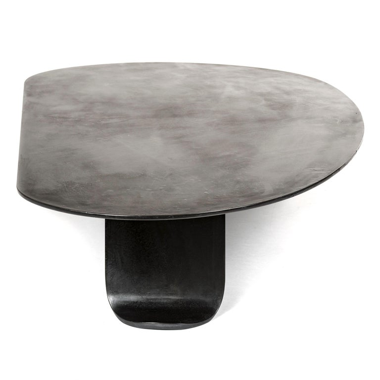 Wyeth Chrysalis Table No. 1 in Patinated Steel with Hot Zinc Finish For Sale 1