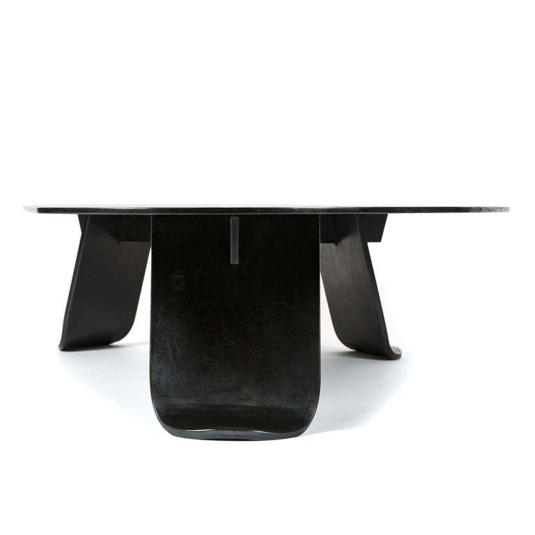 Wyeth Chrysalis Table No. 1 in Patinated Steel with Hot Zinc Finish For Sale 2