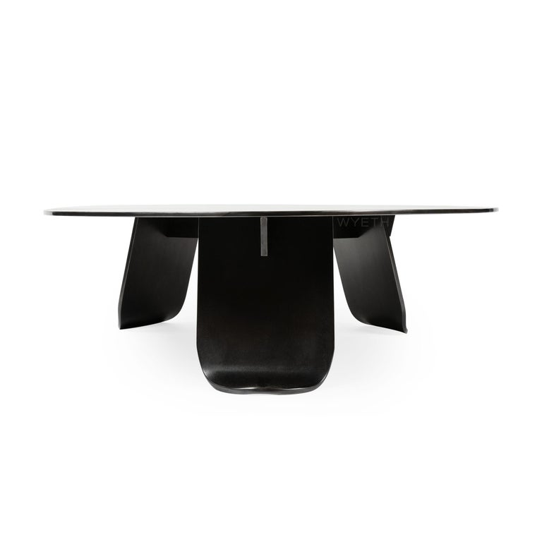 WYETH Chrysalis Table No. 2 in Patinated Steel In New Condition For Sale In Sagaponack, NY