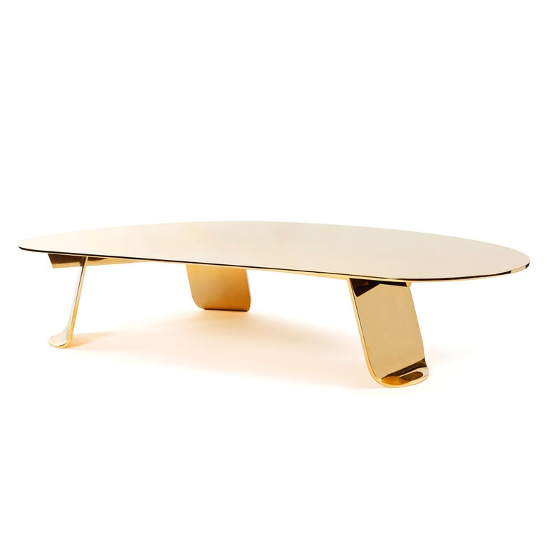 Industrial WYETH Chrysalis Table No. 1 in Polished Bronze For Sale