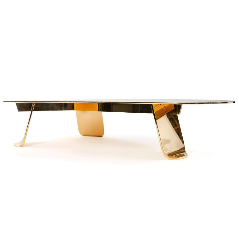 American WYETH Chrysalis Table No. 1 in Polished Bronze For Sale