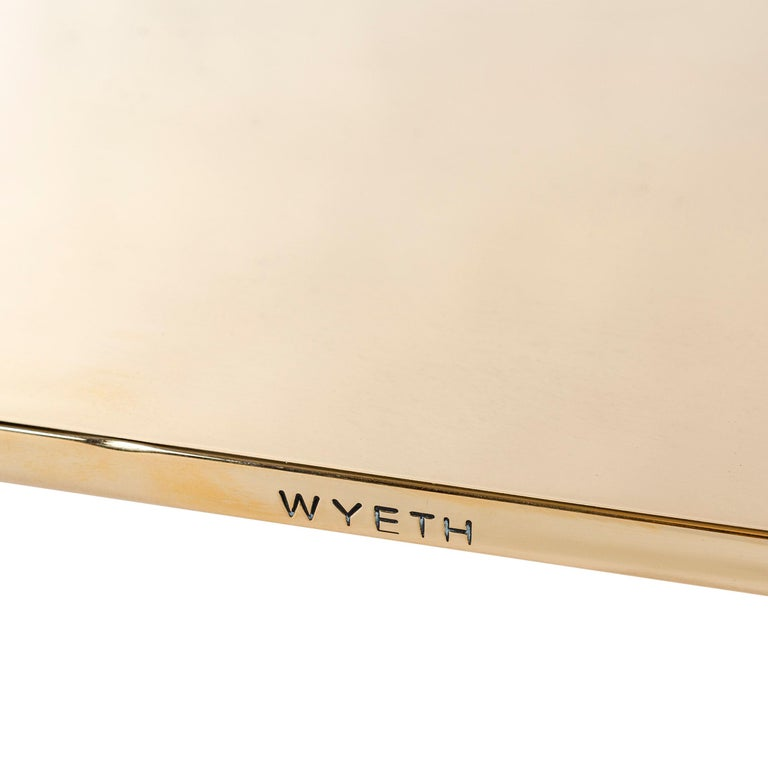 WYETH Chrysalis Table No. 1 in Polished Bronze In New Condition For Sale In Sagaponack, NY