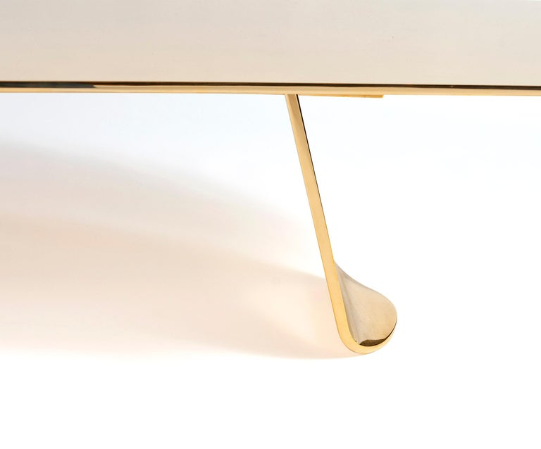 Contemporary WYETH Chrysalis Table No. 1 in Polished Bronze For Sale