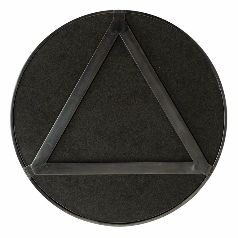 Patinated Wyeth Original Bronze Perfect Ring Mirror For Sale