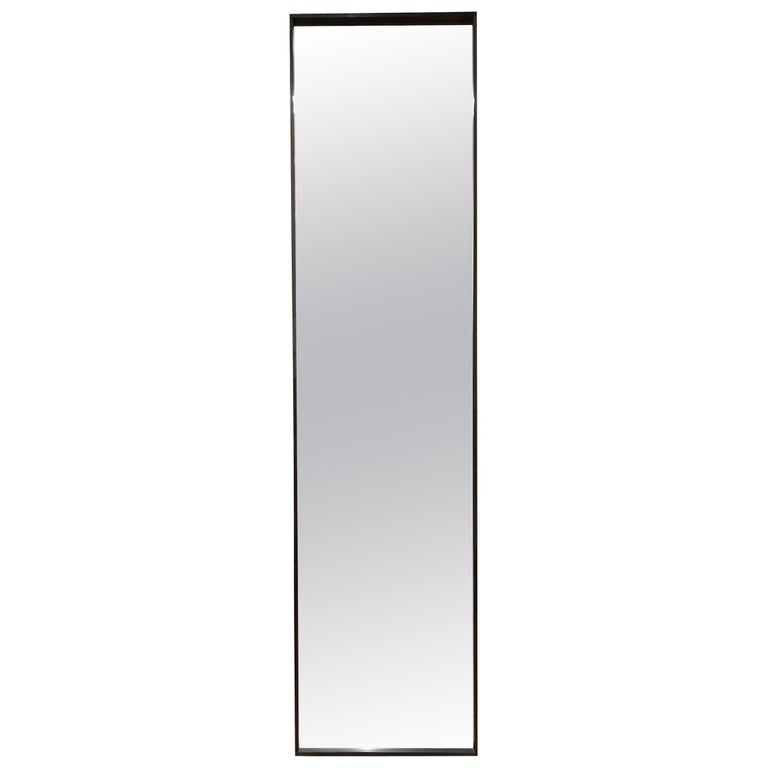 WYETH Original Rectangular Mirror in Blackened Bronze For Sale