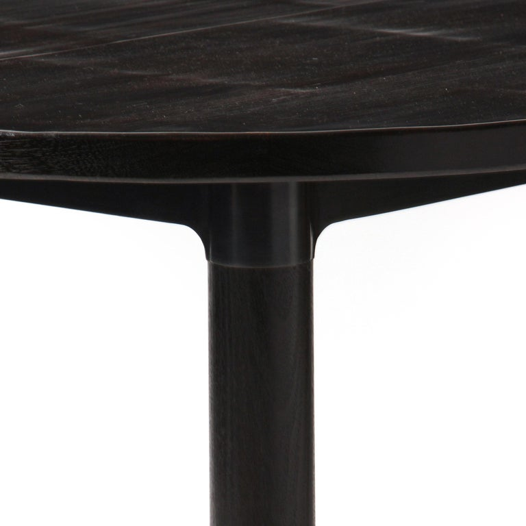 Wyeth Original Round Ebonized Bamboo and Blackened Steel Dining Table In Excellent Condition For Sale In Sagaponack, NY