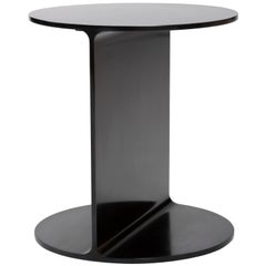 Wyeth Original Round I Beam Table in Blackened Steel