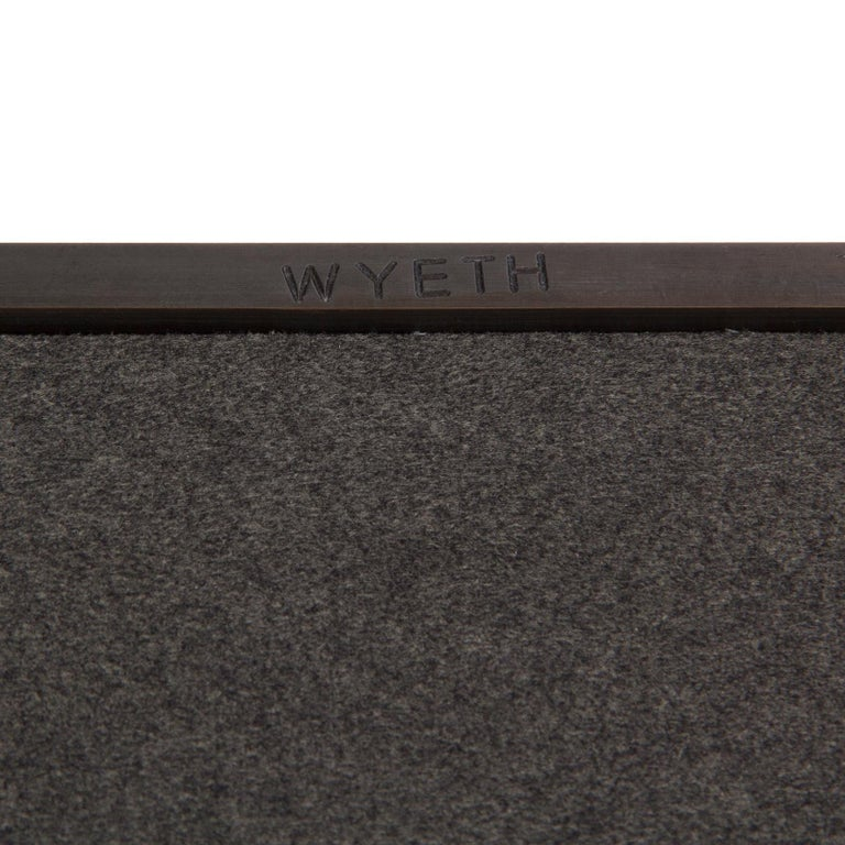 Wyeth Original Steel Square Wall Mirror In New Condition For Sale In Sagaponack, NY