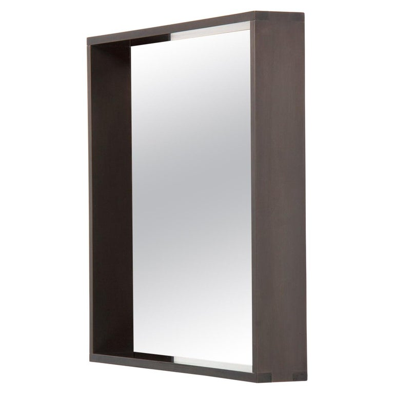 Wyeth Original Steel Square Wall Mirror For Sale