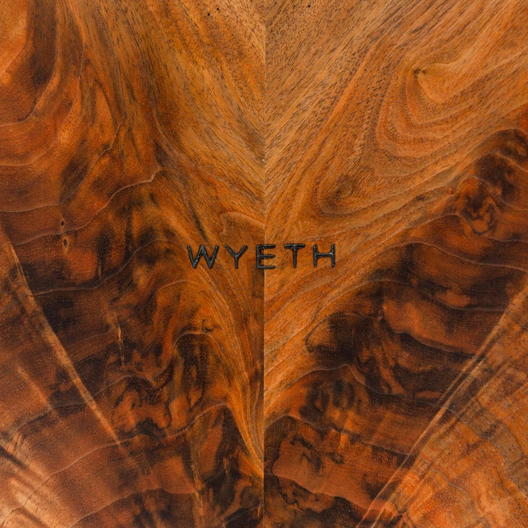 Industrial WYETH Original Super Yacht Table in Walnut and Blackened Steel For Sale