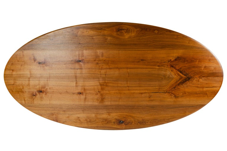 WYETH Original Super Yacht Table in Walnut and Blackened Steel In New Condition For Sale In Sagaponack, NY