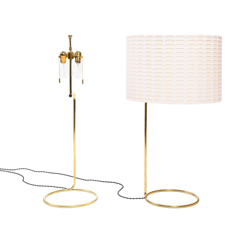 Mid-Century Modern Wyeth Original Tall Bronze 'Rope' Table Lamp For Sale