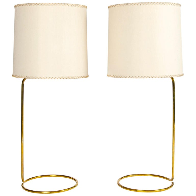 WYETH Original Tall 'Rope' Table Lamp in Polished Bronze For Sale