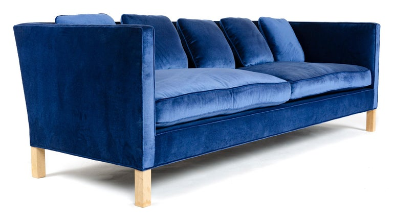 American Wyeth Original Thin Frame Tuxedo Sofa For Sale