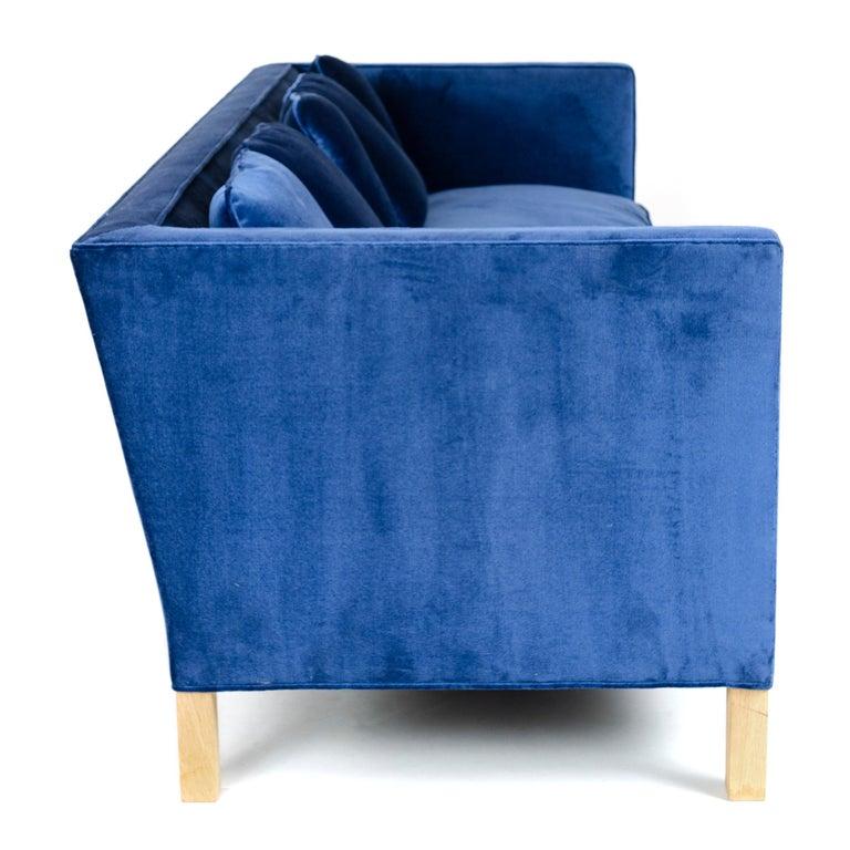 Upholstery Wyeth Original Thin Frame Tuxedo Sofa For Sale