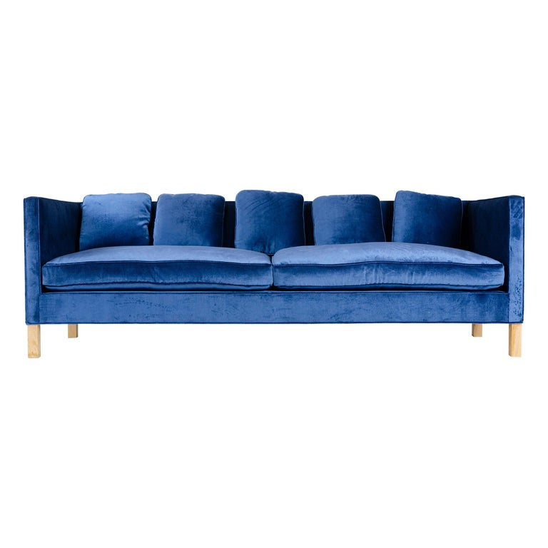 Wyeth Original Thin Frame Tuxedo Sofa For Sale