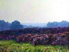 Heatherlands - Early 20th Century Oil, Flowers in Landscape by Wynford Dewhurst