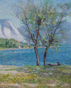 Wynford Dewhurst, Impressionist view of lake Maggiore, Italy