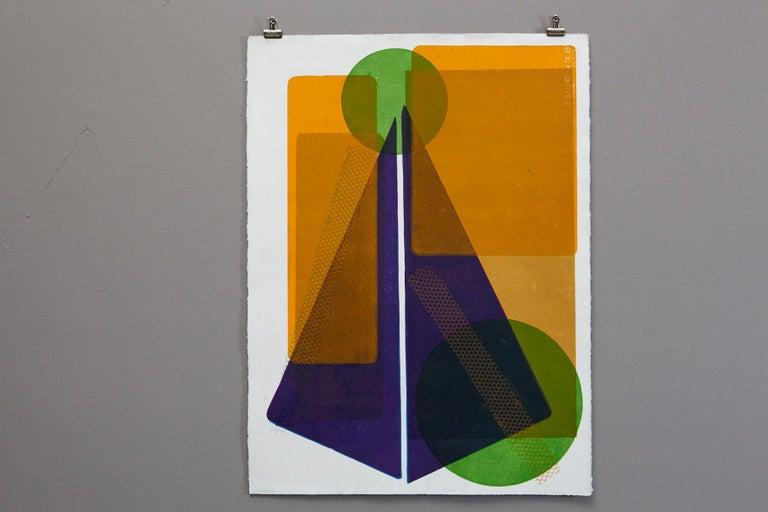 Blue Pyramid - Print by Wyona Diskin