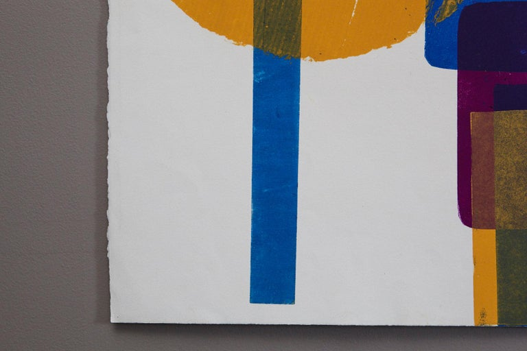 Blue Squares with Orange Circle For Sale 3