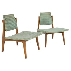 Wytheville Chair Company Mid Century Low Occasional Slipper Lounge Chairs, a Pa