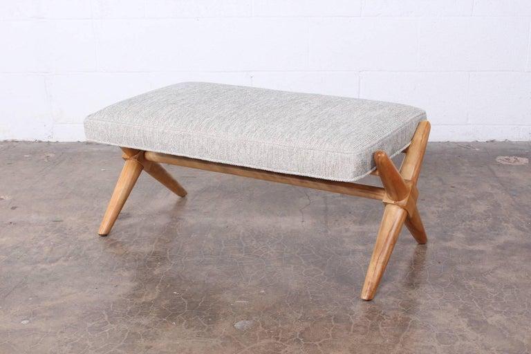 Mid-20th Century X Base Bench by T.H. Robsjohn-Gibbings For Sale