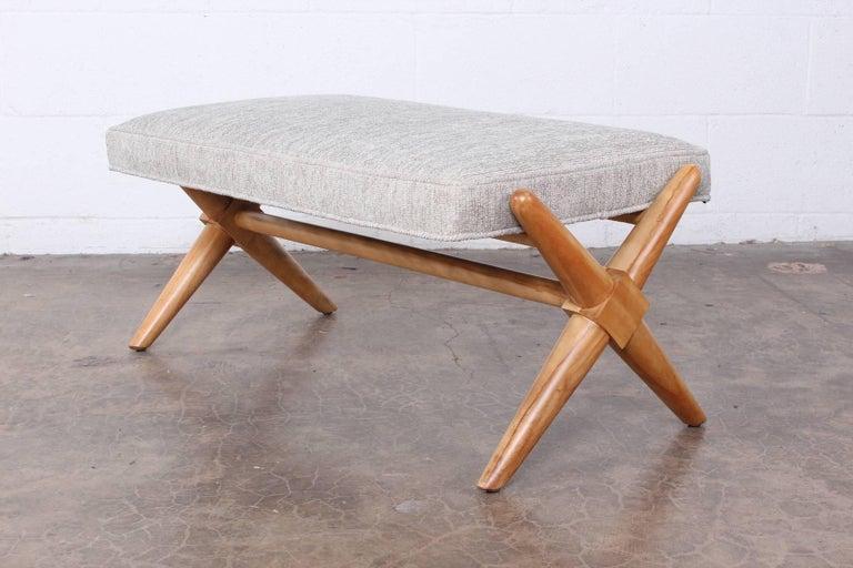 X Base Bench by T.H. Robsjohn-Gibbings For Sale 1