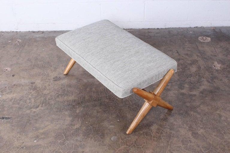 X Base Bench by T.H. Robsjohn-Gibbings For Sale 2
