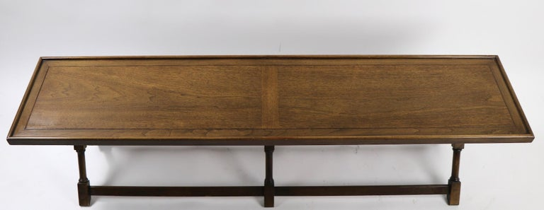 Hollywood Regency X-Base Bench Coffee Table by Brandt For Sale
