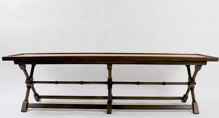 X-Base Bench Coffee Table by Brandt In Good Condition For Sale In New York, NY