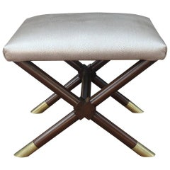 X-Base Ottoman in Faux Shagreen Leather