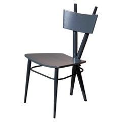 X Black Wooden Chair by Sema Topaloglu
