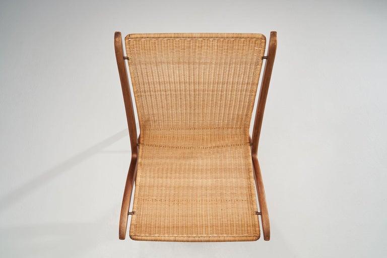 """""""X-Chair"""" by Peter Hvidt & Orla Mølgaard-Nielsen for Fritz Hansen, Denmark, 1959 For Sale 2"""