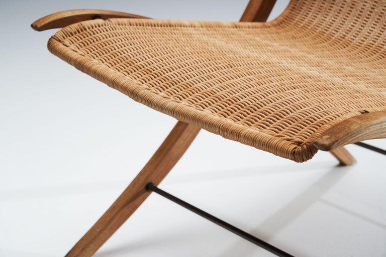 """""""X-Chair"""" by Peter Hvidt & Orla Mølgaard-Nielsen for Fritz Hansen, Denmark, 1959 For Sale 5"""