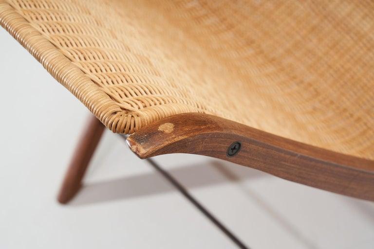 """""""X-Chair"""" by Peter Hvidt & Orla Mølgaard-Nielsen for Fritz Hansen, Denmark, 1959 For Sale 7"""