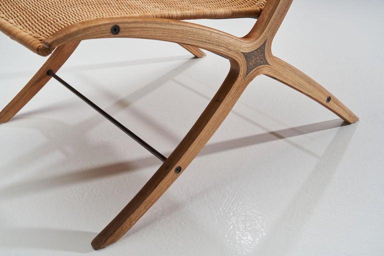 """""""X-Chair"""" by Peter Hvidt & Orla Mølgaard-Nielsen for Fritz Hansen, Denmark, 1959 For Sale 8"""