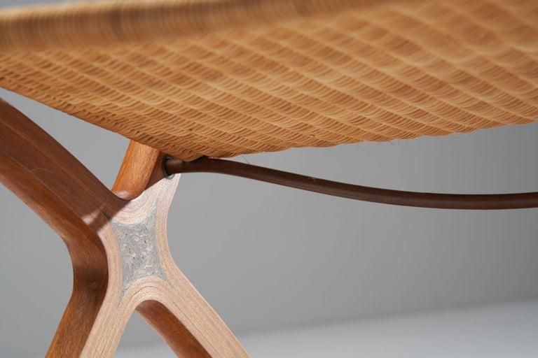 """""""X-Chair"""" by Peter Hvidt & Orla Mølgaard-Nielsen for Fritz Hansen, Denmark, 1959 For Sale 9"""