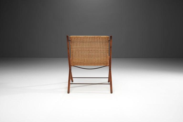 """Danish """"X-Chair"""" by Peter Hvidt & Orla Mølgaard-Nielsen for Fritz Hansen, Denmark, 1959 For Sale"""