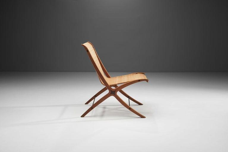 "Inlay ""X-Chair"" by Peter Hvidt & Orla Mølgaard-Nielsen for Fritz Hansen, Denmark, 1959 For Sale"