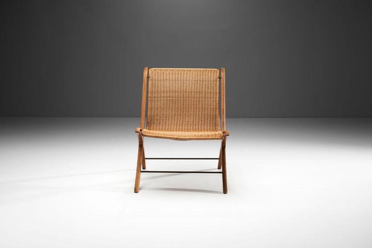 """Mid-17th Century """"X-Chair"""" by Peter Hvidt & Orla Mølgaard-Nielsen for Fritz Hansen, Denmark, 1959 For Sale"""