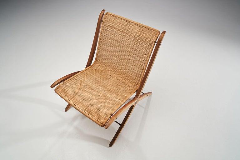 """""""X-Chair"""" by Peter Hvidt & Orla Mølgaard-Nielsen for Fritz Hansen, Denmark, 1959 For Sale 1"""