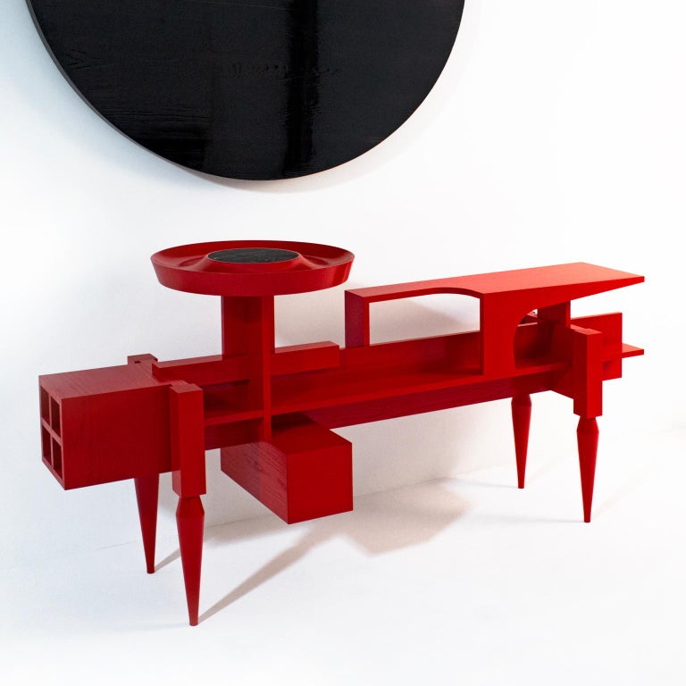 Arts and Crafts Contemporary red Sideboard  or Console