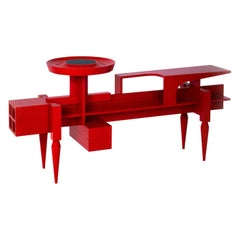 "Contemporary red Sideboard  or Console ""X"" by Studio1+11 , 21st Century, Germany"